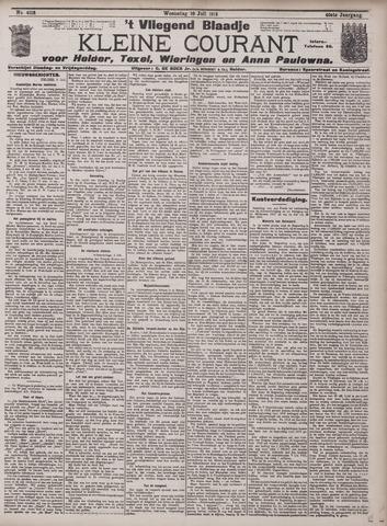Vliegend blaadje : nieuws- en advertentiebode voor Den Helder 1912-07-10