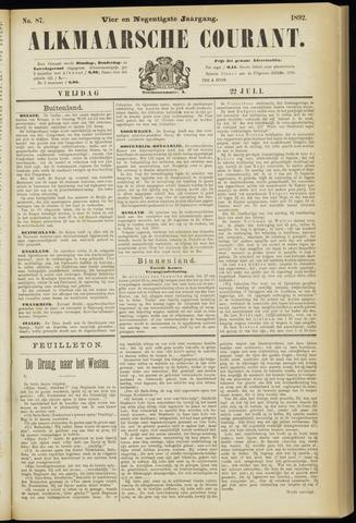 Alkmaarsche Courant 1892-07-22