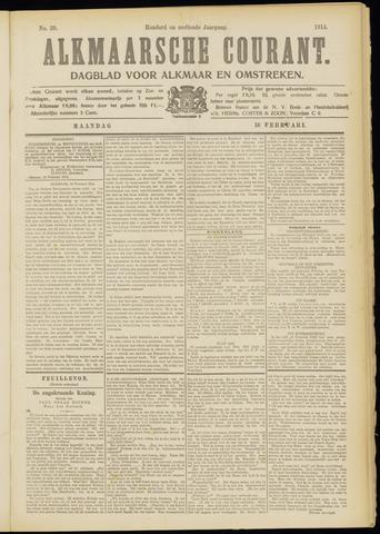 Alkmaarsche Courant 1914-02-16
