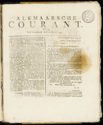 Alkmaarsche Courant 1814-03-07