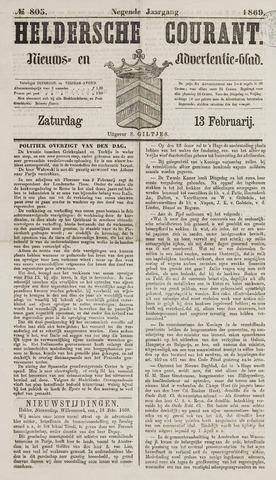 Heldersche Courant 1869-02-13