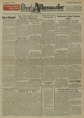 De Vrije Alkmaarder 1948-02-12