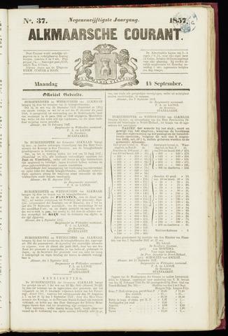 Alkmaarsche Courant 1857-09-14