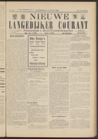 Nieuwe Langedijker Courant 1932-06-18