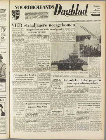 Noordhollands Dagblad : dagblad voor Alkmaar en omgeving 1953-11-19