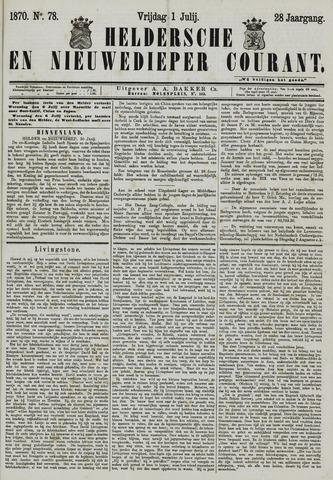 Heldersche en Nieuwedieper Courant 1870-07-01