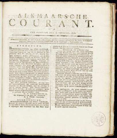 Alkmaarsche Courant 1816-10-21