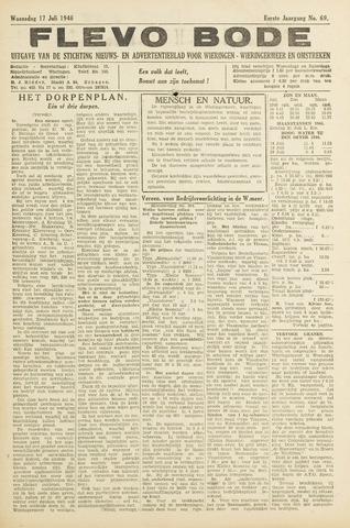 Flevo-bode: nieuwsblad voor Wieringen-Wieringermeer 1946-07-17