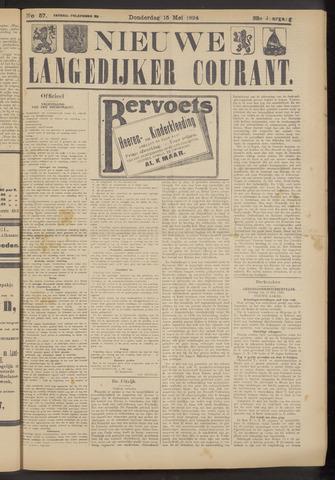 Nieuwe Langedijker Courant 1924-05-15
