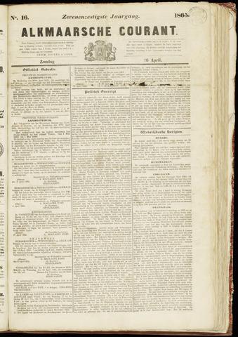 Alkmaarsche Courant 1865-04-16