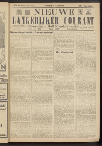 Nieuwe Langedijker Courant 1929-04-09
