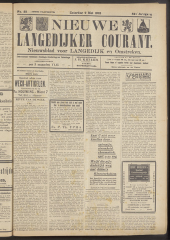 Nieuwe Langedijker Courant 1925-05-09