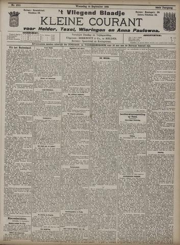 Vliegend blaadje : nieuws- en advertentiebode voor Den Helder 1908-09-16
