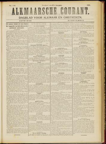 Alkmaarsche Courant 1909-09-25