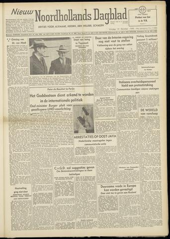 Nieuw Noordhollandsch Dagblad : voor Alkmaar en omgeving 1948-10-15