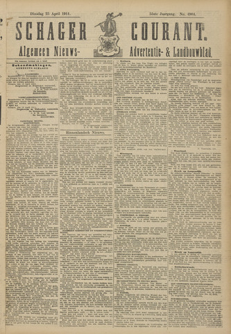 Schager Courant 1911-04-25