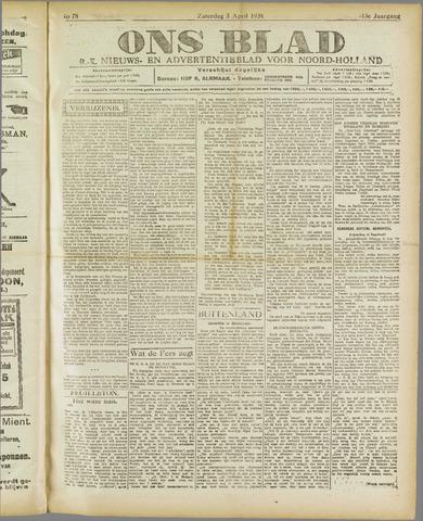 Ons Blad : katholiek nieuwsblad voor N-H 1920-04-03