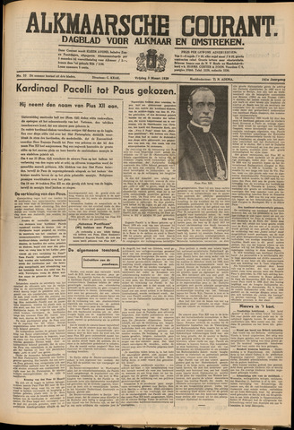 Alkmaarsche Courant 1939-03-03