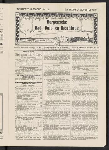 Bergensche bad-, duin- en boschbode 1929-08-24