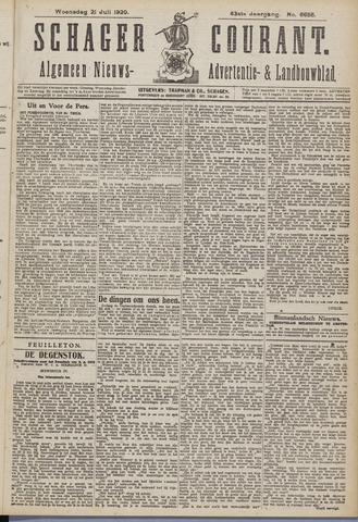 Schager Courant 1920-07-21