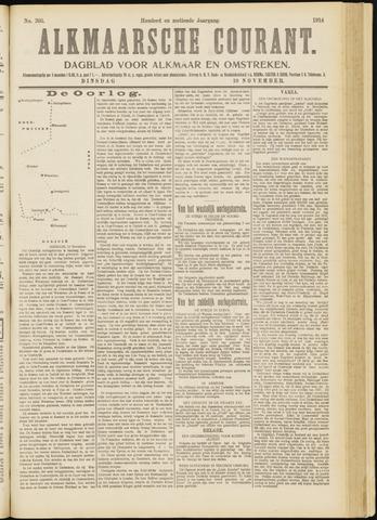 Alkmaarsche Courant 1914-11-10