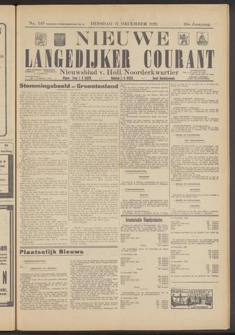 Nieuwe Langedijker Courant 1929-12-17