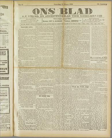 Ons Blad : katholiek nieuwsblad voor N-H 1920-03-13