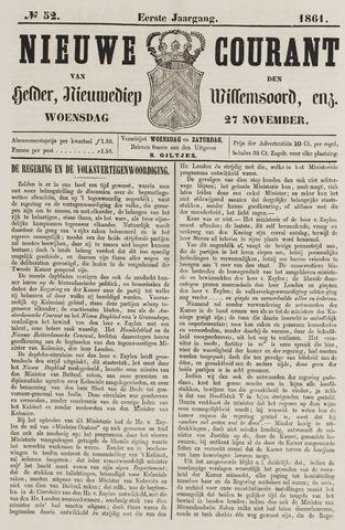 Nieuwe Courant van Den Helder 1861-11-27