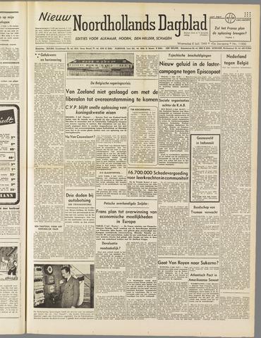 Nieuw Noordhollandsch Dagblad : voor Alkmaar en omgeving 1949-07-06