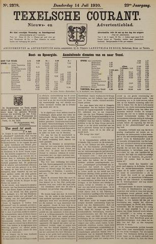 Texelsche Courant 1910-07-14