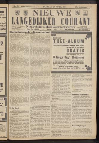 Nieuwe Langedijker Courant 1931-04-28