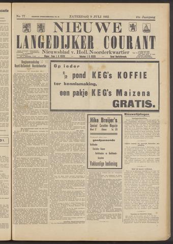 Nieuwe Langedijker Courant 1932-07-09