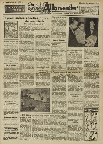 De Vrije Alkmaarder 1949-09-26