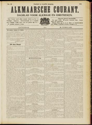 Alkmaarsche Courant 1910-02-26