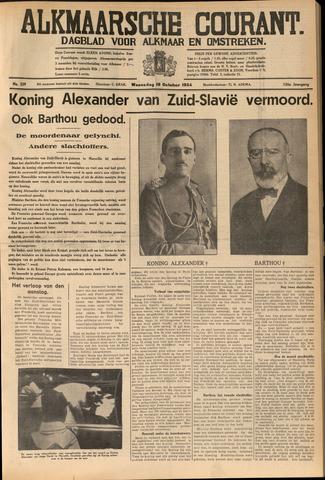 Alkmaarsche Courant 1934-10-10