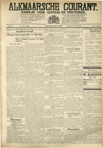 Alkmaarsche Courant 1933-04-10