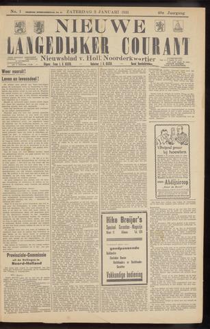 Nieuwe Langedijker Courant 1931-01-03