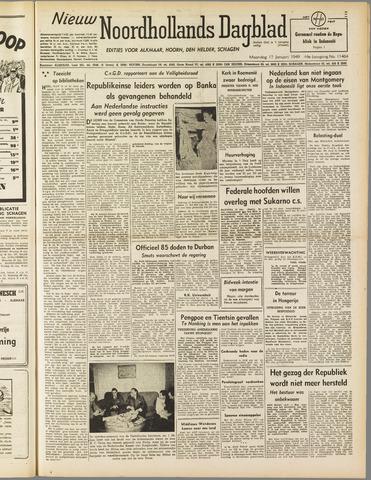 Nieuw Noordhollandsch Dagblad : voor Alkmaar en omgeving 1949-01-17