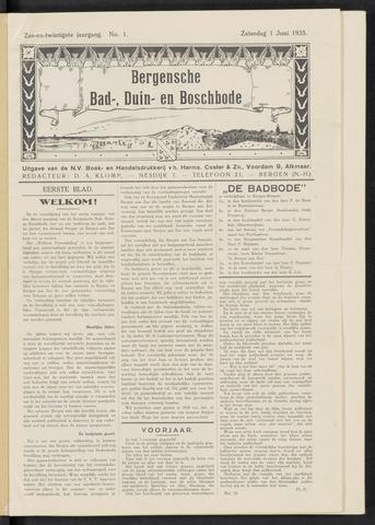 Bergensche bad-, duin- en boschbode 1935-06-01