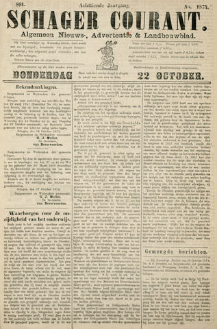 Schager Courant 1874-10-22
