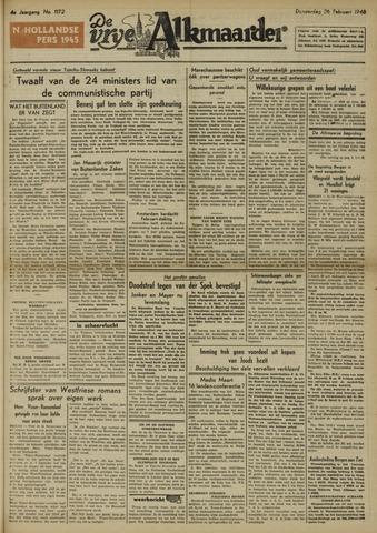 De Vrije Alkmaarder 1948-02-26