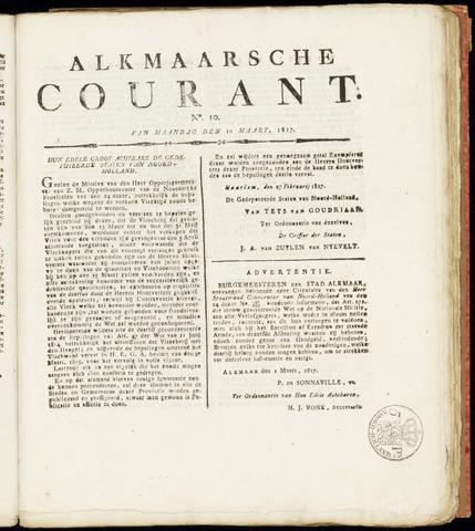 Alkmaarsche Courant 1817-03-10