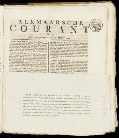 Alkmaarsche Courant 1814-01-31