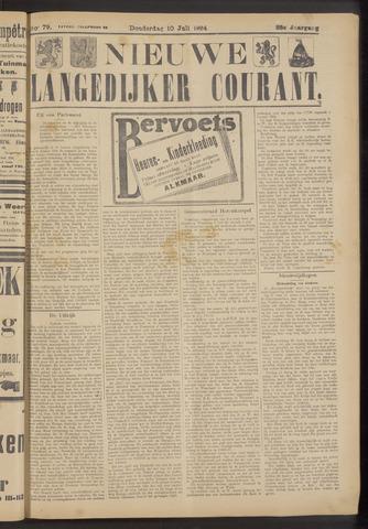 Nieuwe Langedijker Courant 1924-07-10