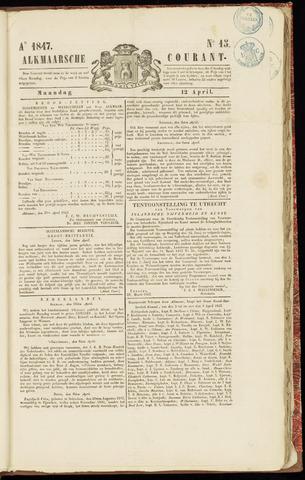 Alkmaarsche Courant 1847-04-12