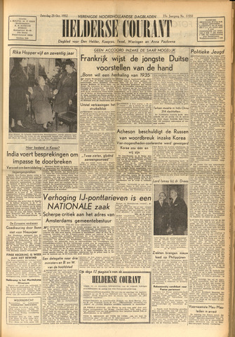Heldersche Courant 1952-10-25