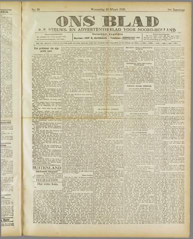 Ons Blad : katholiek nieuwsblad voor N-H 1920-03-10