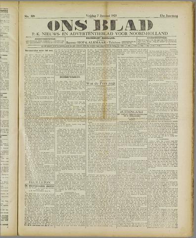 Ons Blad : katholiek nieuwsblad voor N-H 1921-01-07