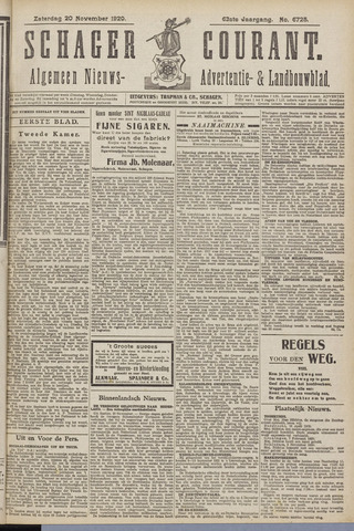 Schager Courant 1920-11-20