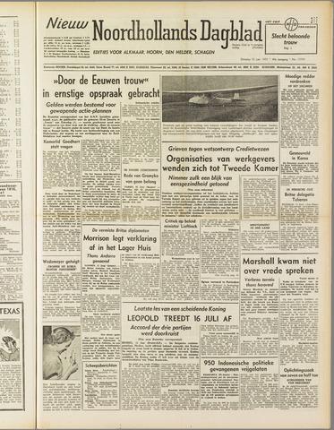 Nieuw Noordhollandsch Dagblad : voor Alkmaar en omgeving 1951-06-12